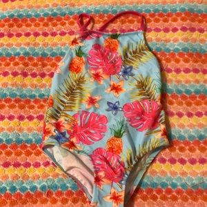 2-3  yr old Swimming suit tropical print